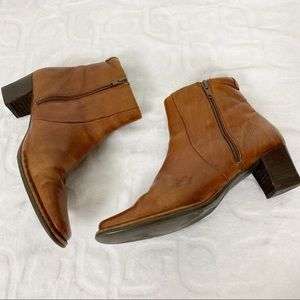 PIKOLINOS Shoes - PIKOLINOS Soft Aged Brown Leather Western Booties